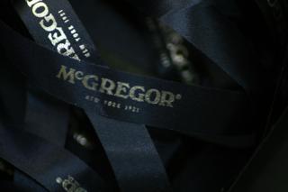 Donkerblauw lint met Zilver metallic - Mc Gregor
